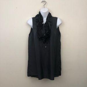 J Crew Calista Cami soft black tank top silk
